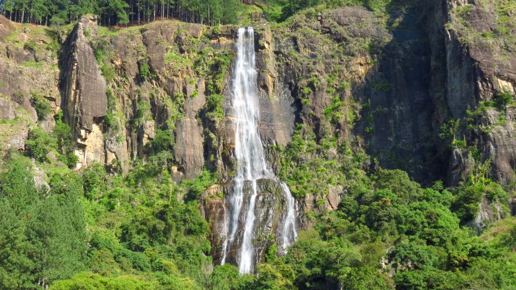 Bambarakanda Waterfall is one of the best waterfalls in Sri Lanka