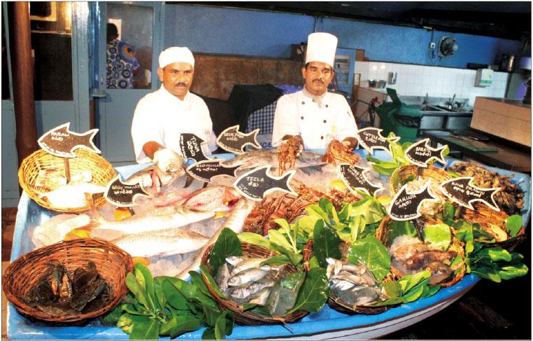 Seafood on Mt Lavinia Beach