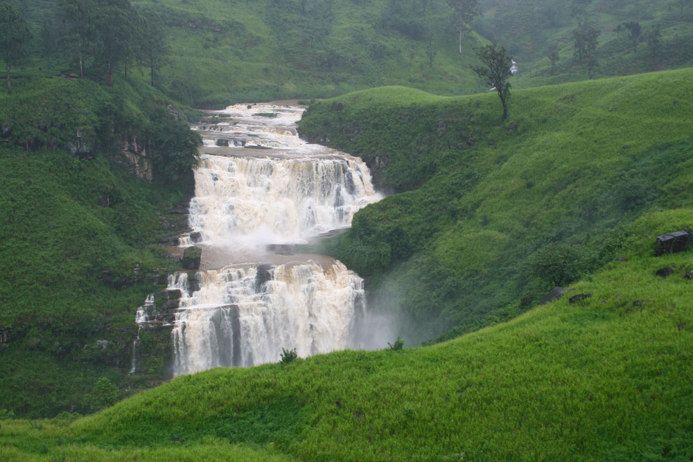 St.Clair waterfalls of Sri Lanka